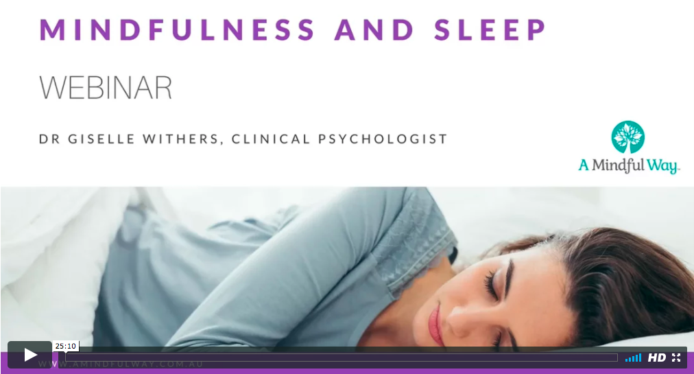 Improve sleep with mindfulness