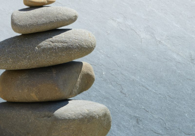 meditation rocks balanced